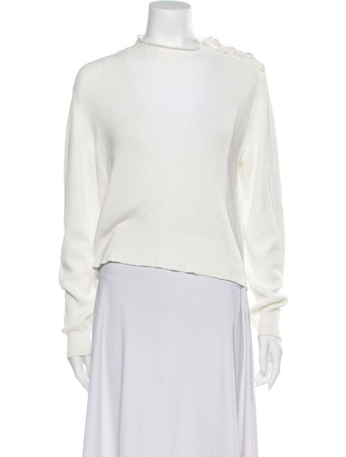 Sandro Mock Neck Sweater White