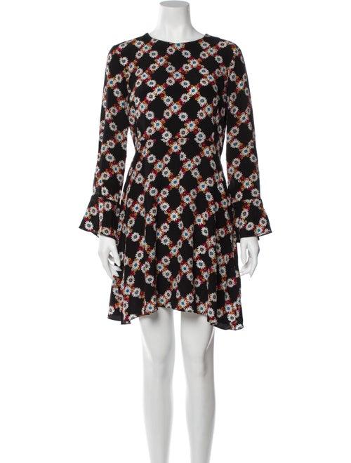 Sandro Silk Mini Dress Black
