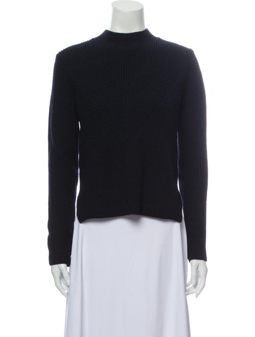 Sandro Wool Mock Neck Sweater Wool