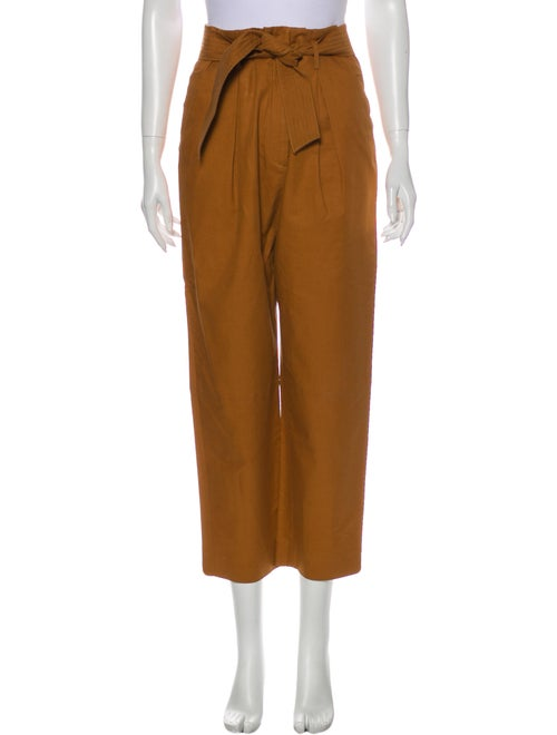 Sandro Straight Leg Pants Orange