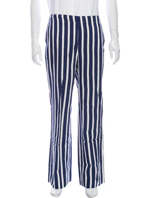 Sandro Striped Pants Blue