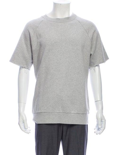 Sandro Crew Neck Short Sleeve Sweatshirt Grey