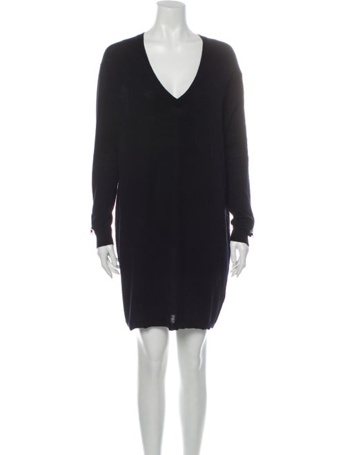 Sandro Merino Wool Mini Dress Wool
