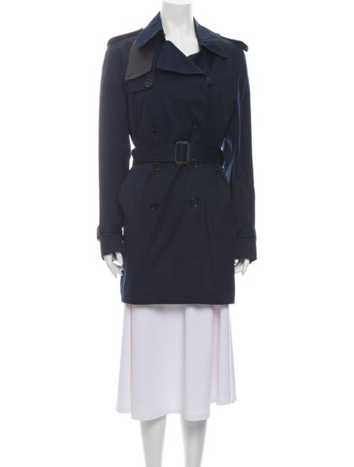 Sandro Trench Coat Blue