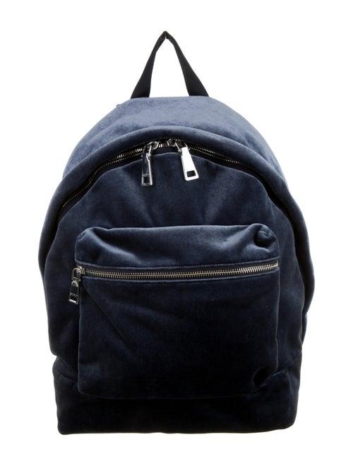 Sandro Velvet Backpack Blue