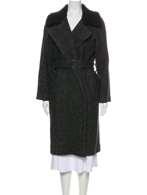Sandro Wool Trench Coat Wool