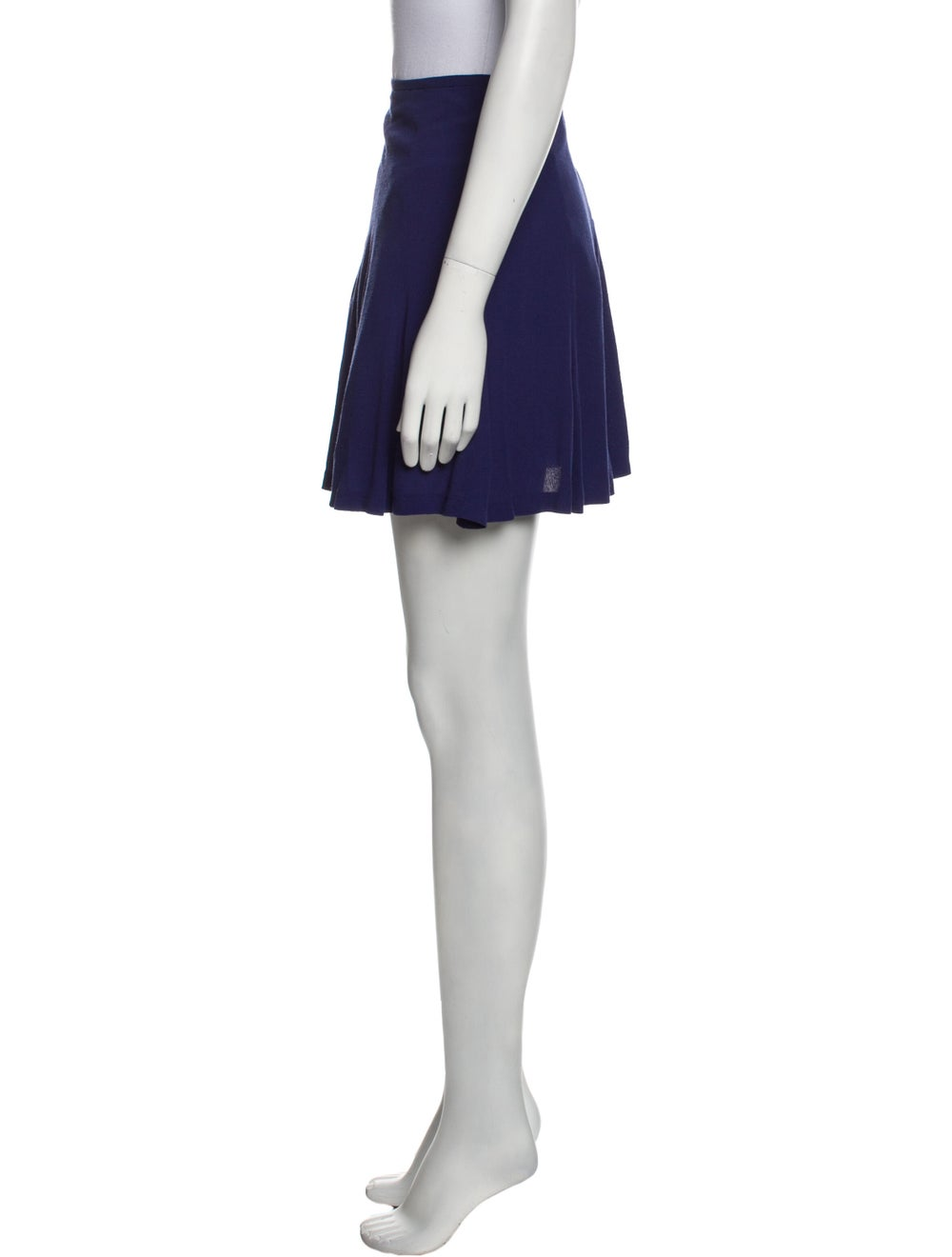 Sandro Mini Skirt Blue - image 2