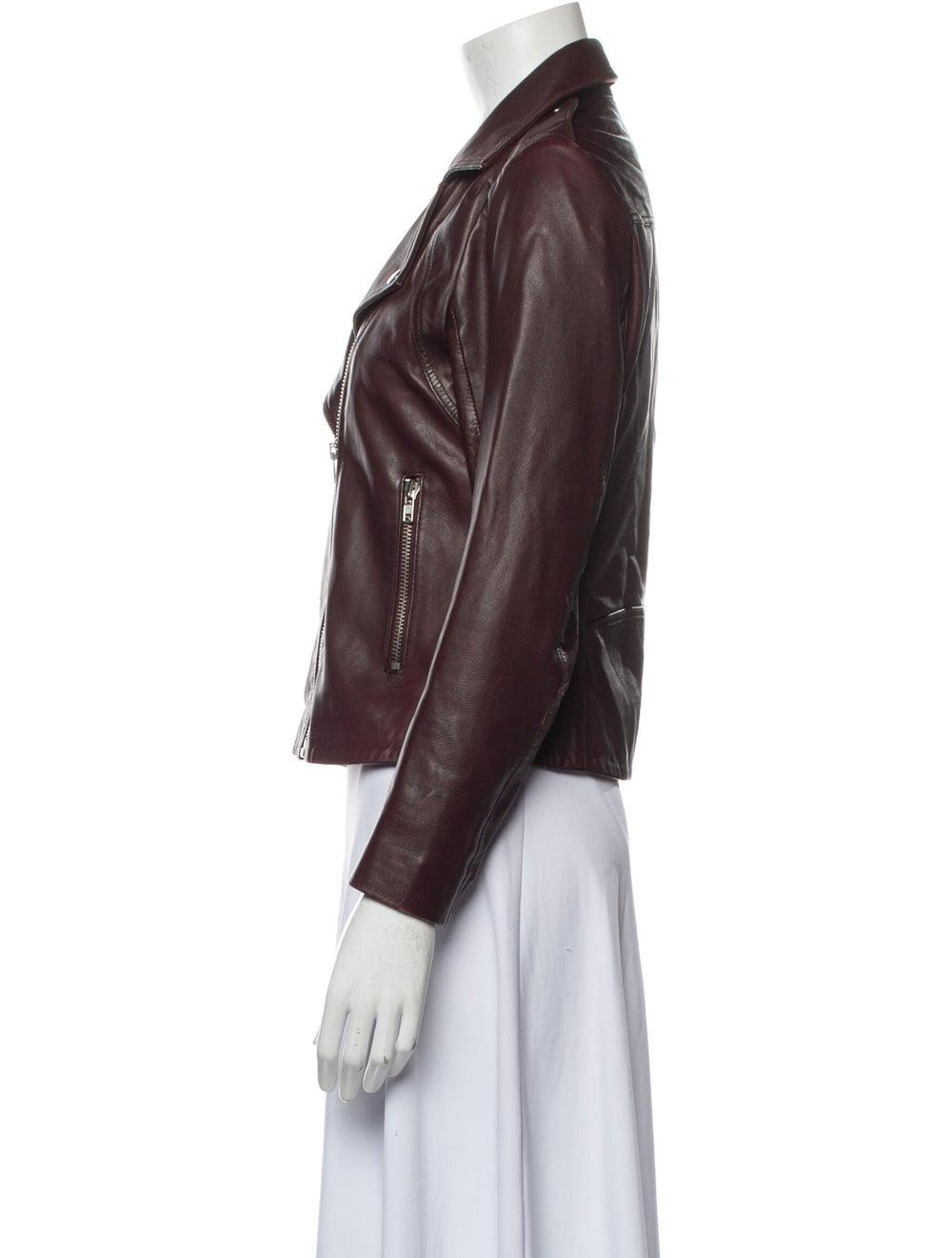 Sandro Lamb Leather Biker Jacket - image 2