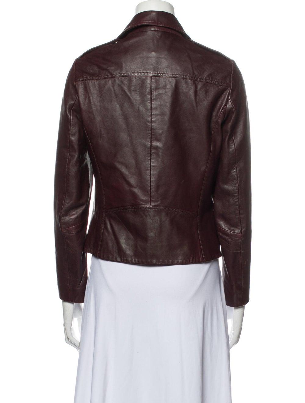 Sandro Lamb Leather Biker Jacket - image 3