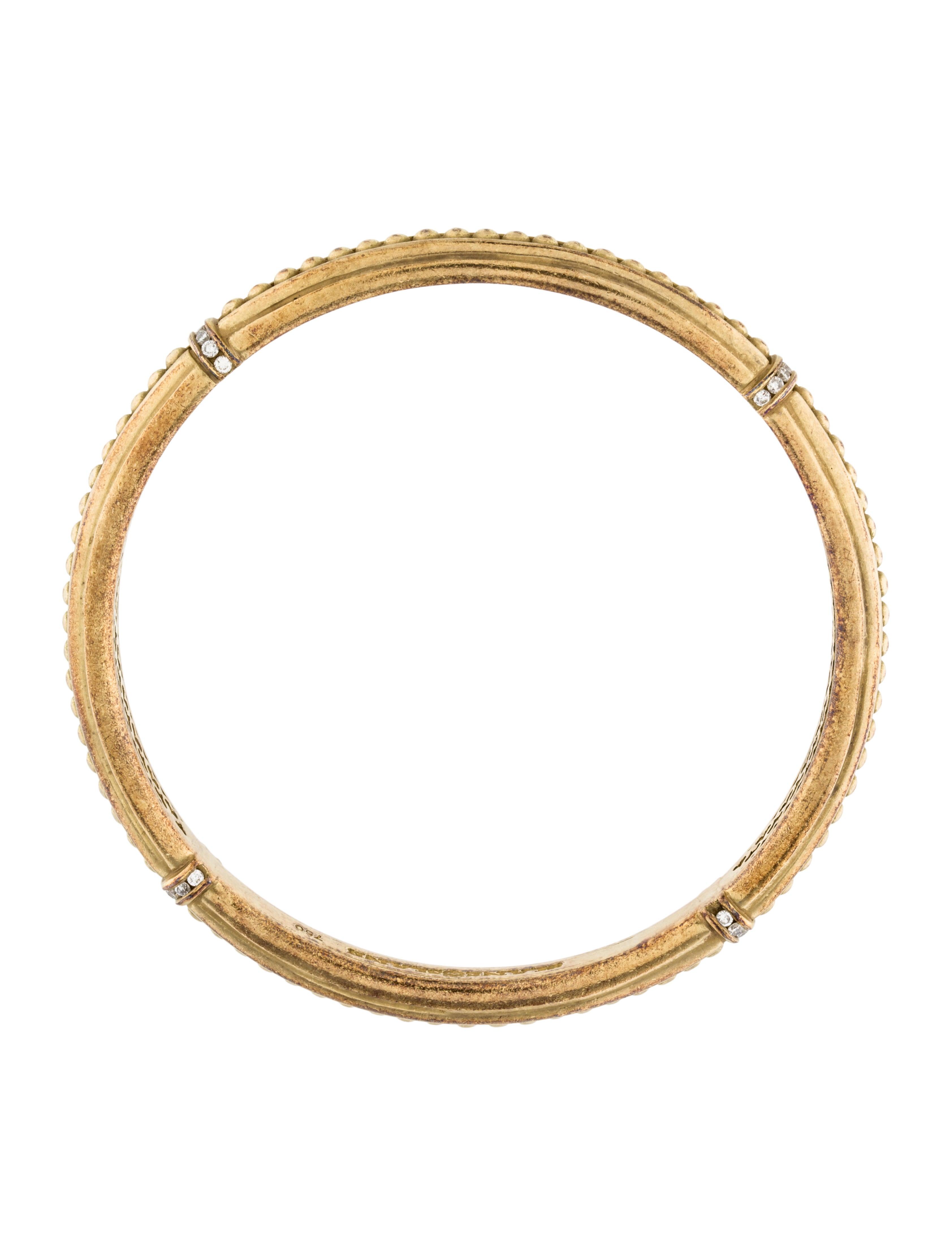 slane 18k diamond bangle bracelet bracelets ws520431. Black Bedroom Furniture Sets. Home Design Ideas