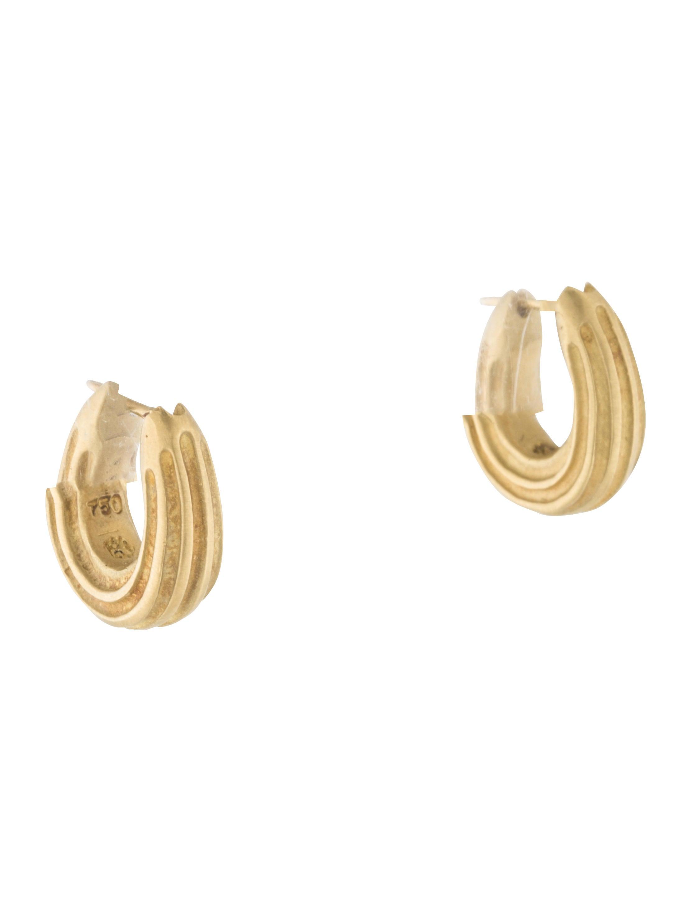 slane 18k huggie earrings earrings ws520442 the realreal