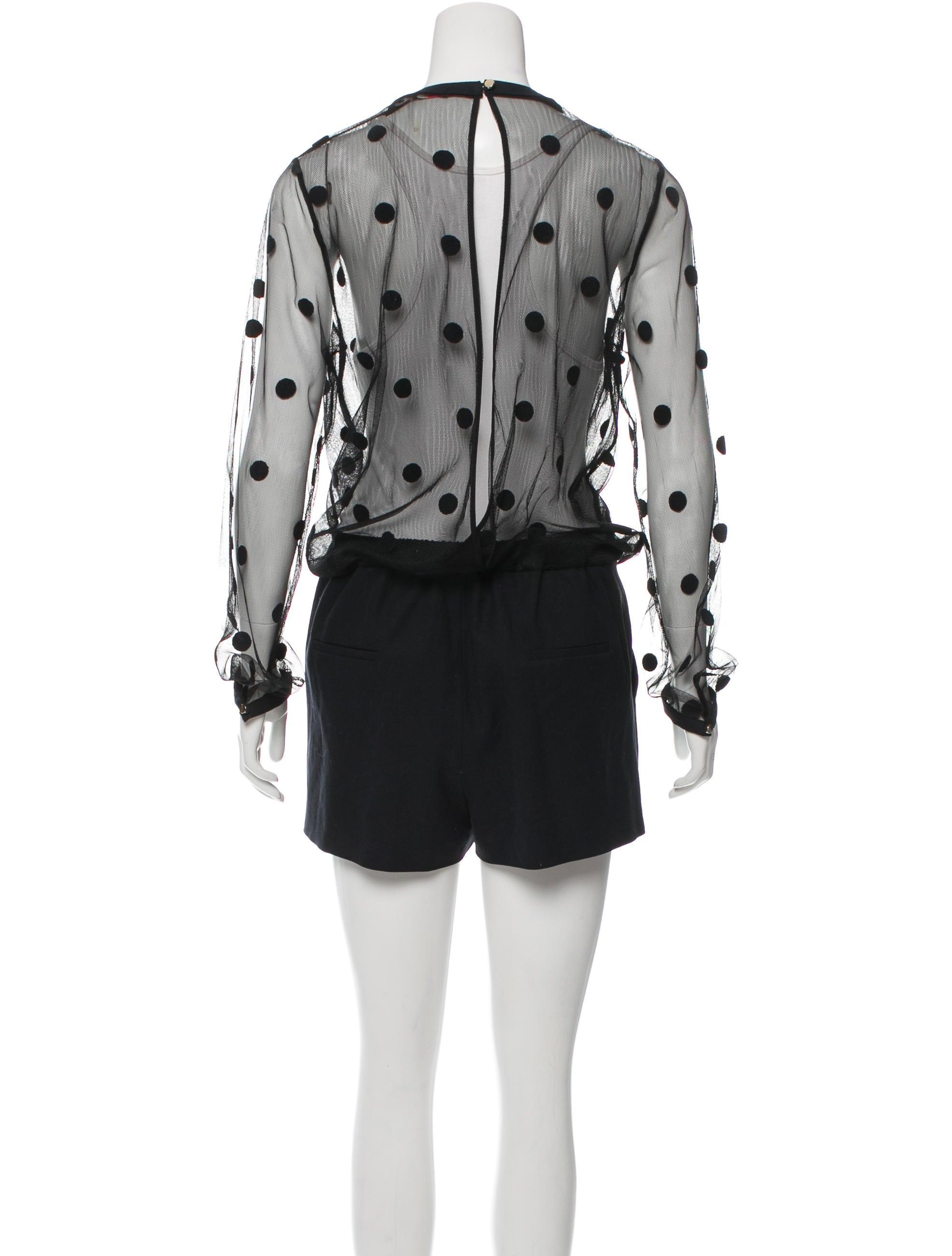 Sass u0026 Bide High-Rise Polka-Dot Romper - Clothing - WSA20145 | The RealReal