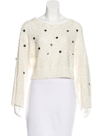Sass & Bide Embellished Cropped Sweater None