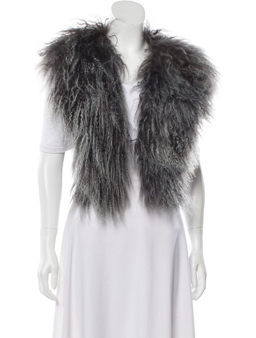 Sass & Bide Mongolian Lamb Vest Grey