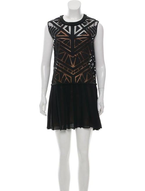 Sass & Bide Printed Mini Dress Black