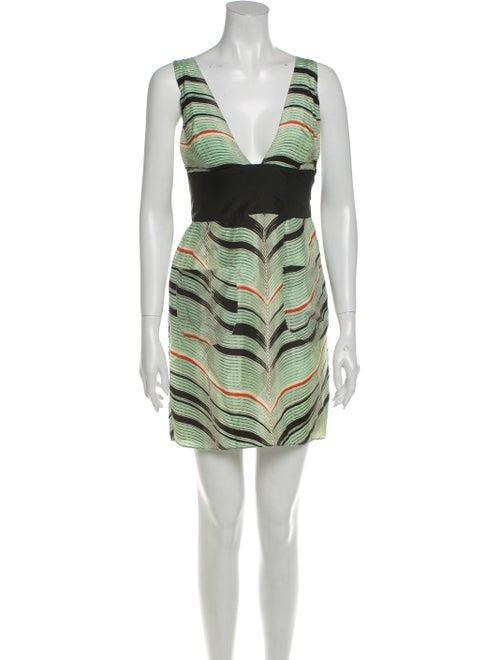 Sass & Bide Silk Mini Dress Green