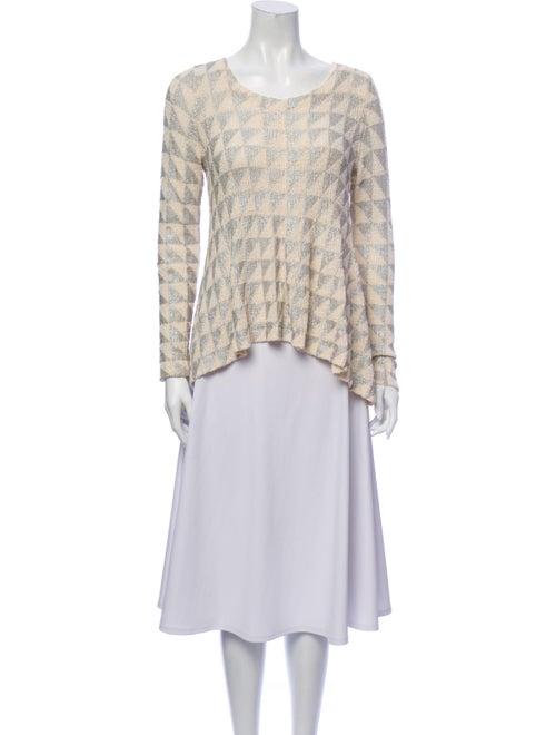 Sass & Bide Printed Scoop Neck Sweater