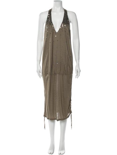 Sass & Bide Halterneck Midi Length Dress w/ Tags G