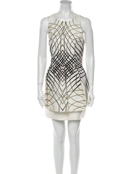 Sass & Bide Printed Mini Dress White