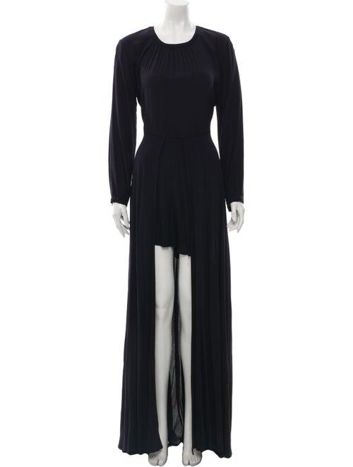 Sass & Bide Crew Neck Long Dress Black