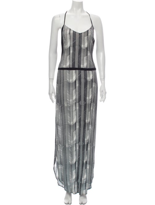 Sass & Bide Striped Long Dress Black