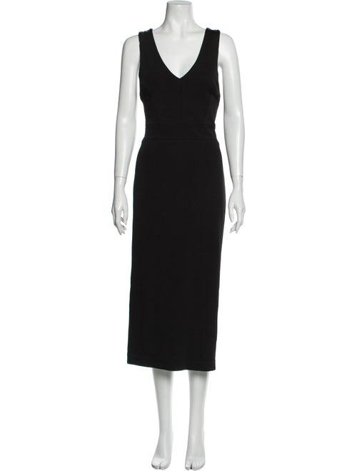 Sass & Bide V-Neck Long Dress Black
