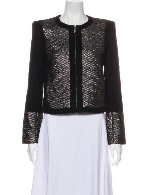 Sass & Bide Wool Printed Evening Jacket Wool
