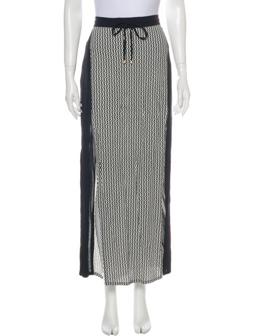 Sass & Bide Printed Long Skirt Blue