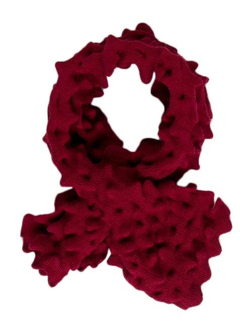 Saint James Textured Knit Stole Red