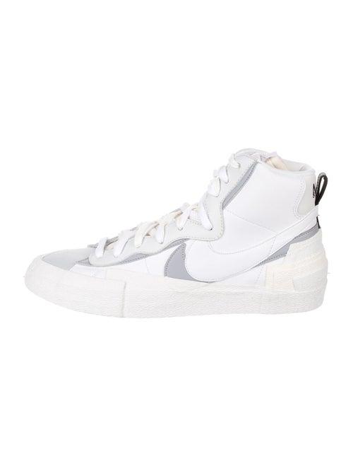 Sacai x Nike Blazer Mid Sneakers w/ Tags White