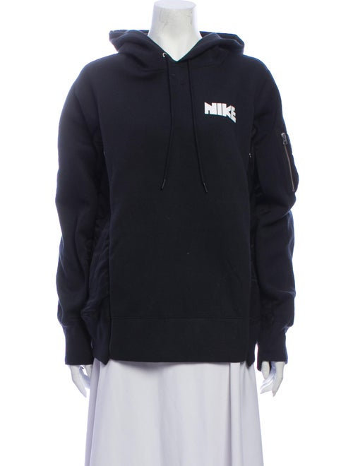 Sacai x Nike Graphic Print Crew Neck Sweatshirt Bl