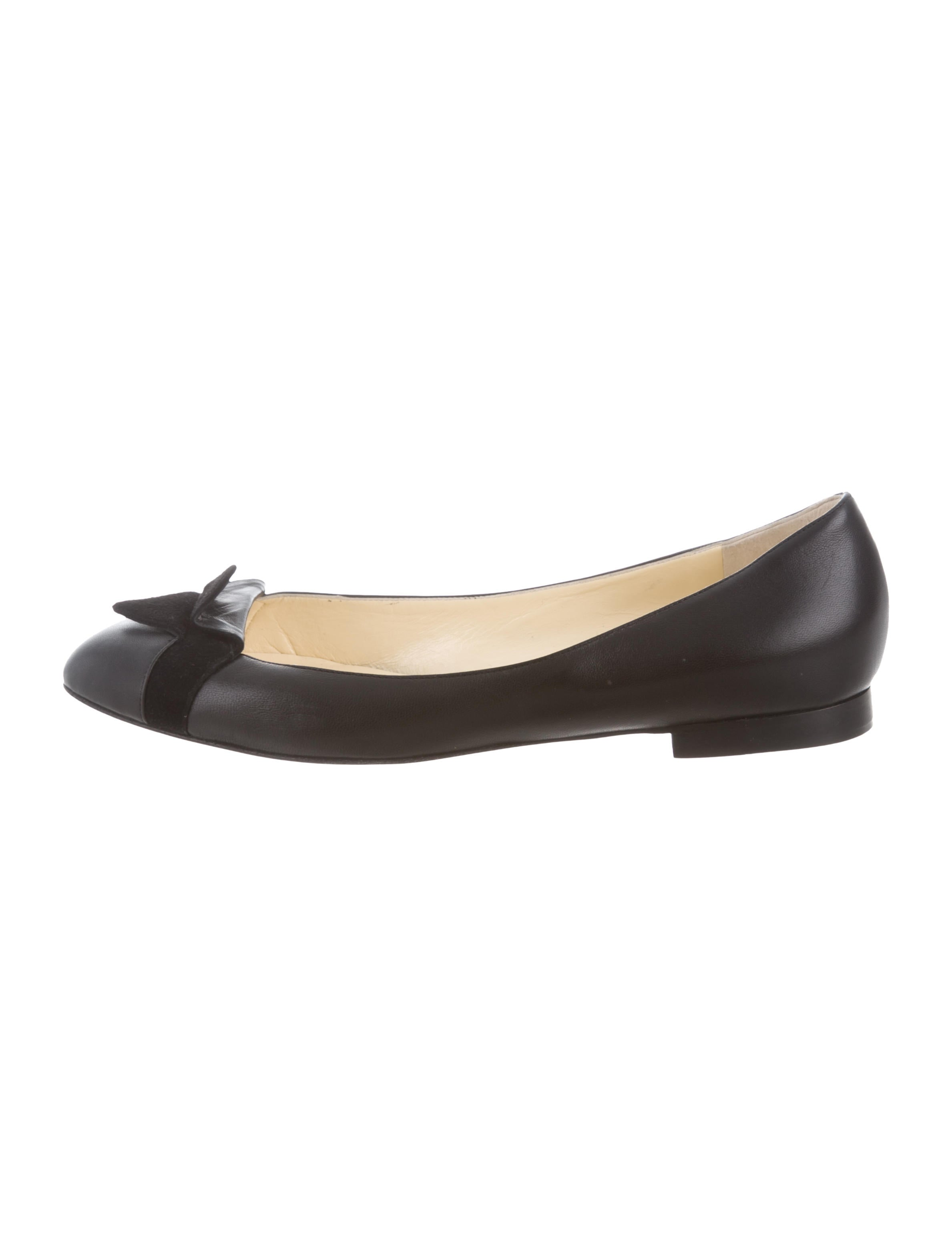 classic Sarah Flint Suede-Accented Leather Flats sale with mastercard 3qrJ6O