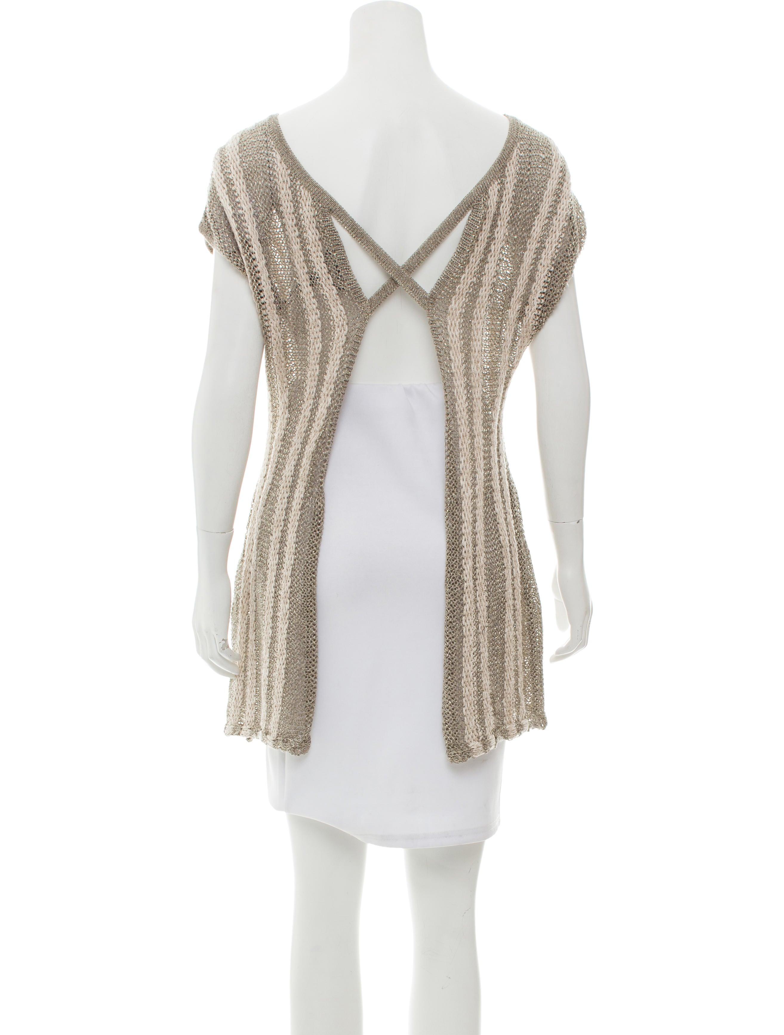 dab538dfea Sarah Pacini Metallic Stripe Knit Tunic - Clothing - WSARP20100 ...