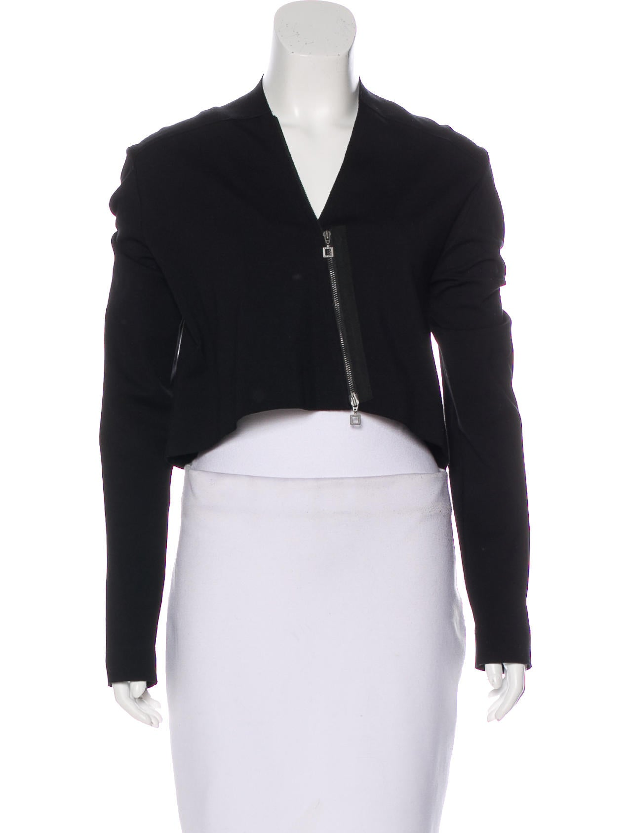 Sarah Pacini Cropped Zip Up Sweater Clothing Wsarp20109 The