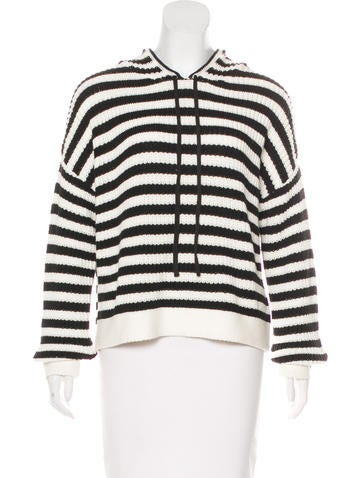 Sanctuary Knit Striped Hoodie None