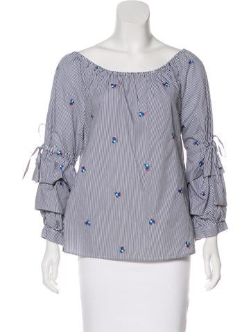 Sanctuary Embroidered Off-The-Shoulder Top None