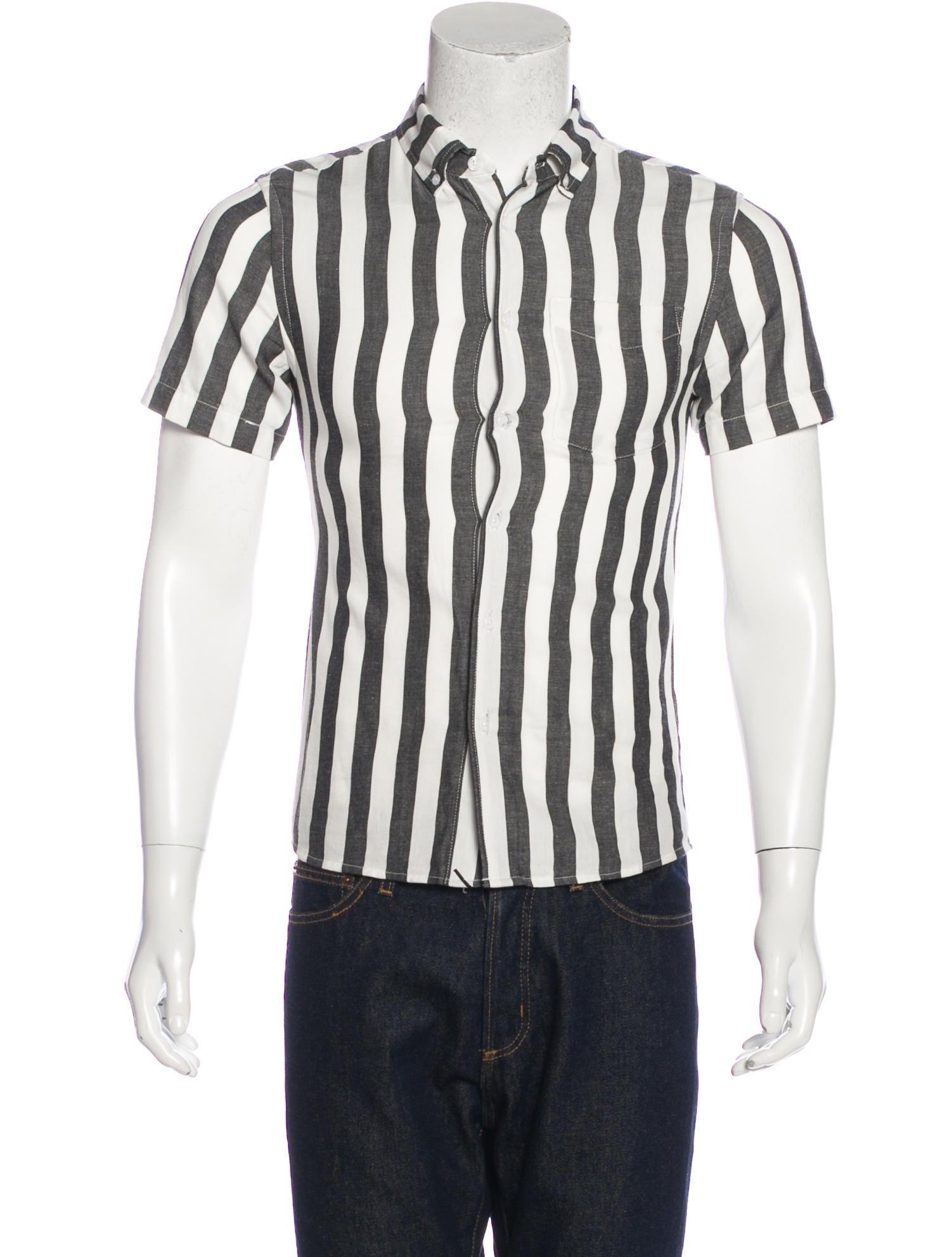 Saturdays surf nyc striped button up shirt clothing for Striped button up shirt mens