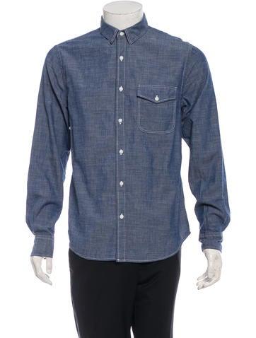 Save khaki denim button up shirt w tags clothing for Khaki button up shirt