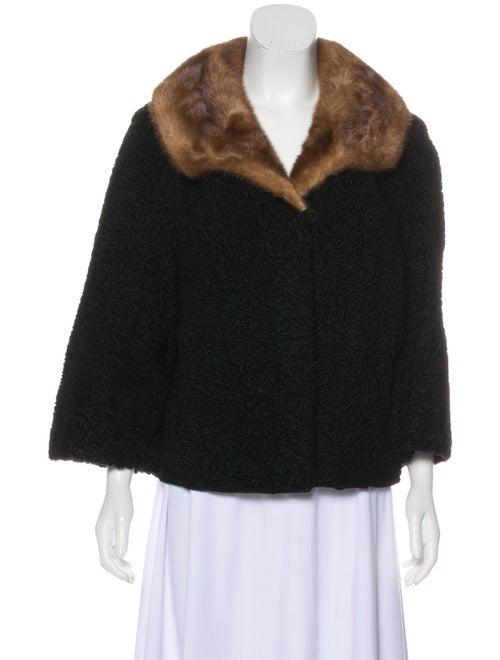 Schiaparelli Fur Jacket Black