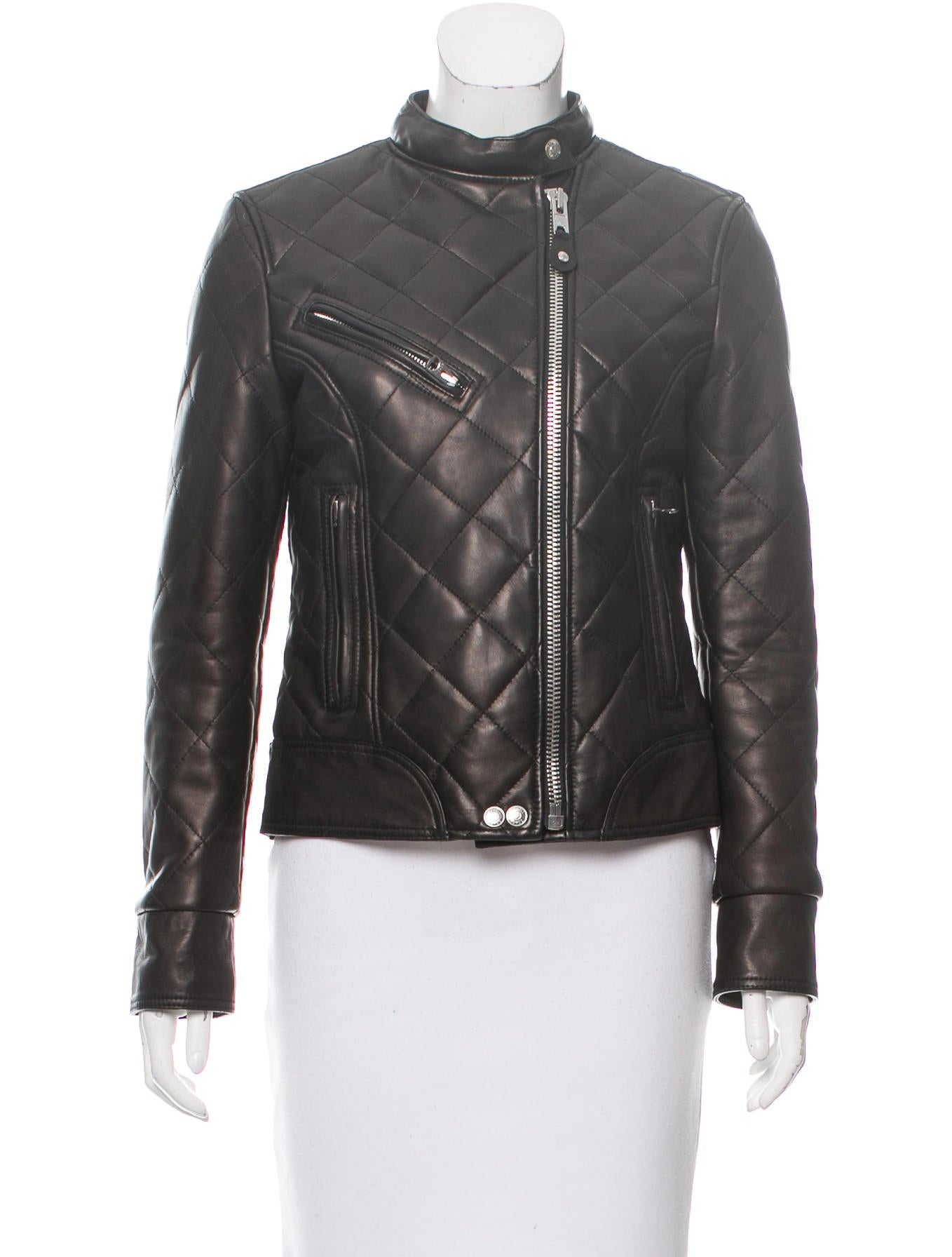 schott nyc leather quilted jacket clothing wscht20023 the realreal. Black Bedroom Furniture Sets. Home Design Ideas