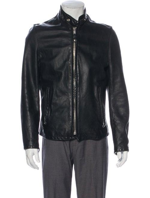 Schott NYC Leather Moto Jacket Black