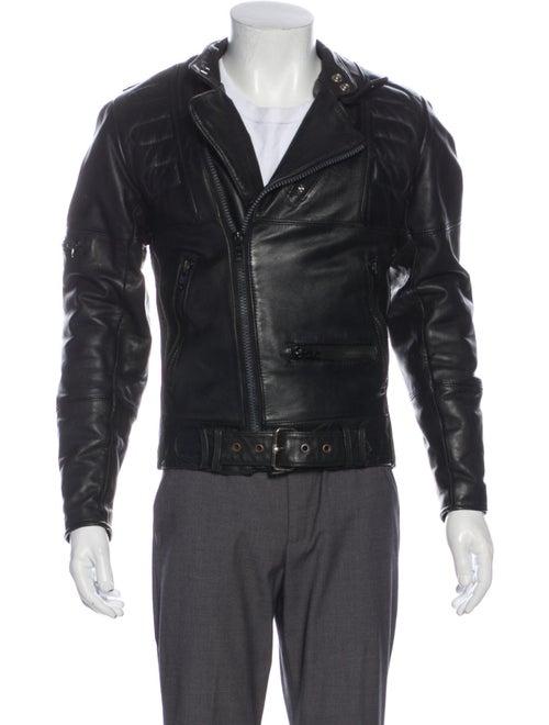 Schott NYC Vintage Leather Moto Jacket Black