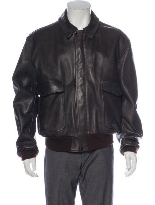 Schott NYC Flight Jacket Leather Trucker Jacket Br