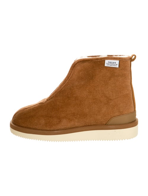 Suicoke Suede Printed Boots Brown