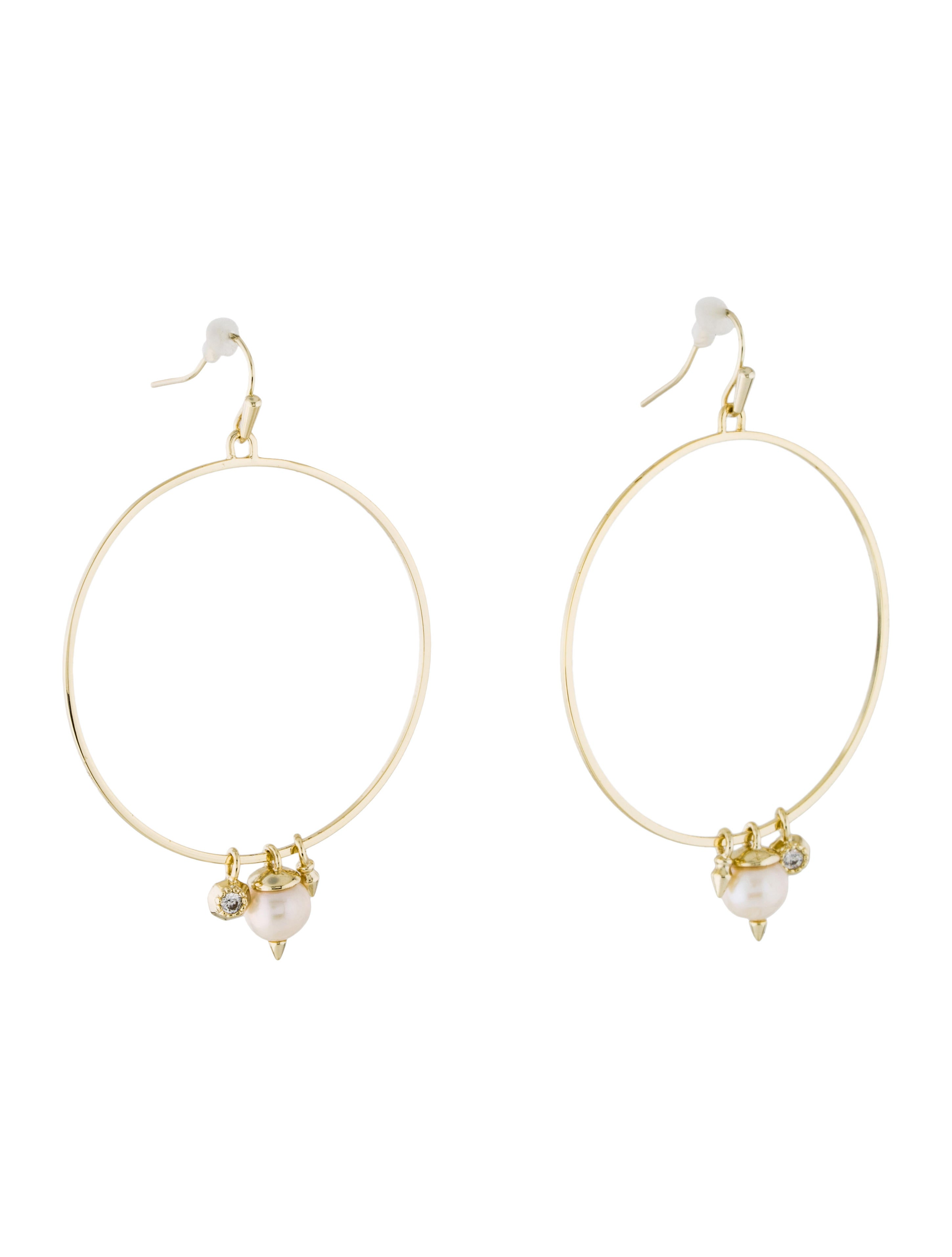 Kendra Scott Pearl Hoop Drop Earrings Earrings