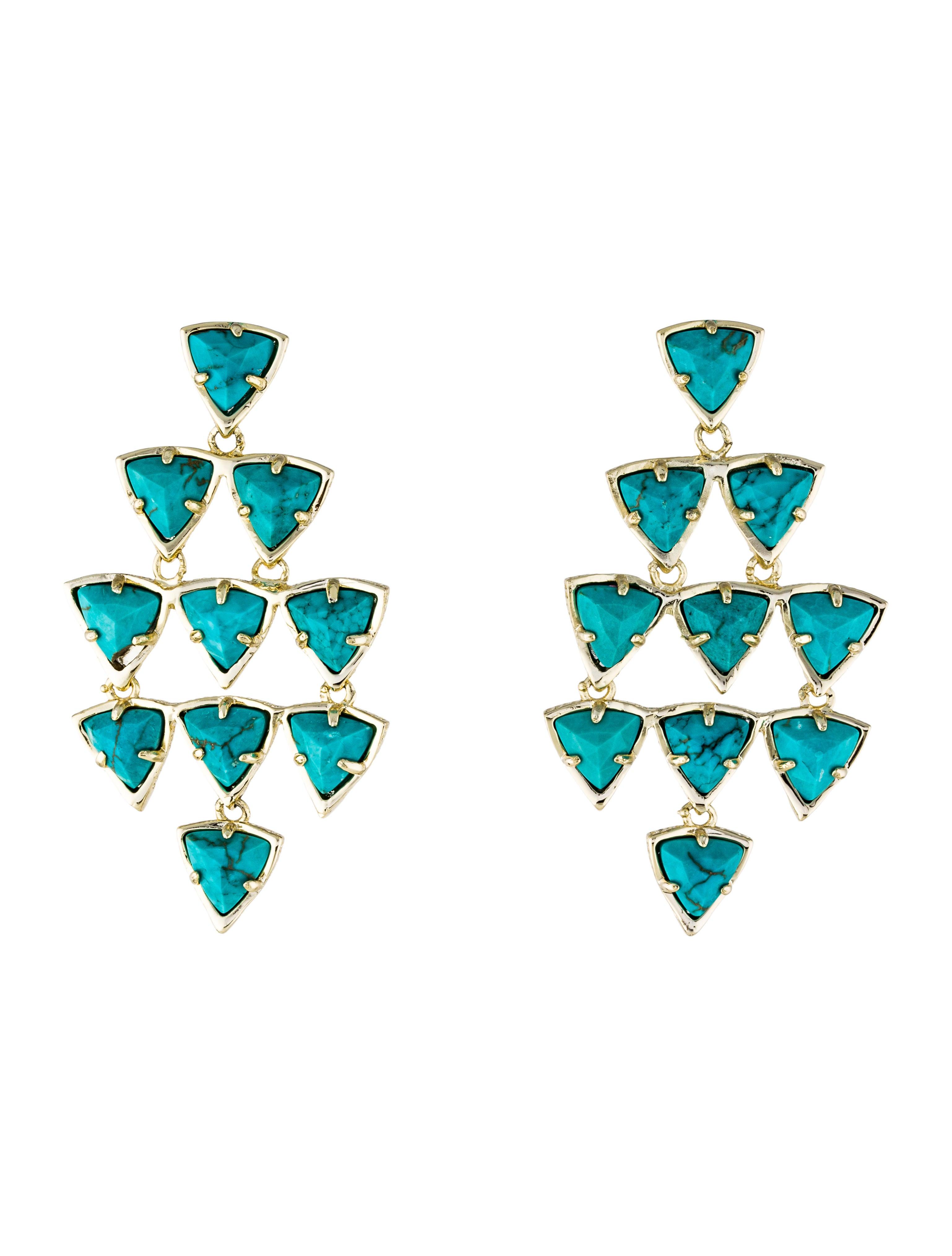 Kendra scott vale turquoise magnesite chandelier earrings earrings vale turquoise magnesite chandelier earrings arubaitofo Images