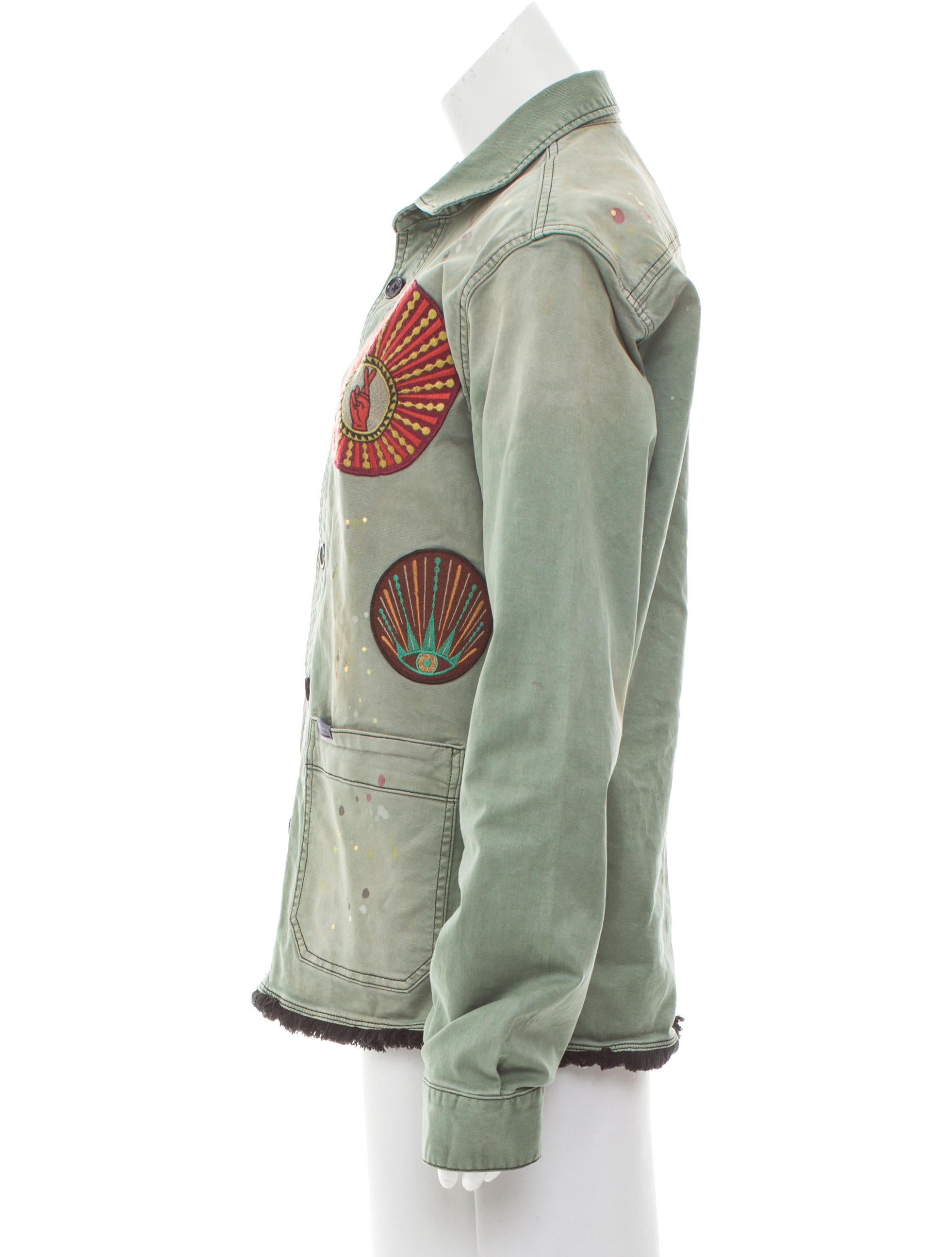 Scotch soda distressed embroidered jacket clothing