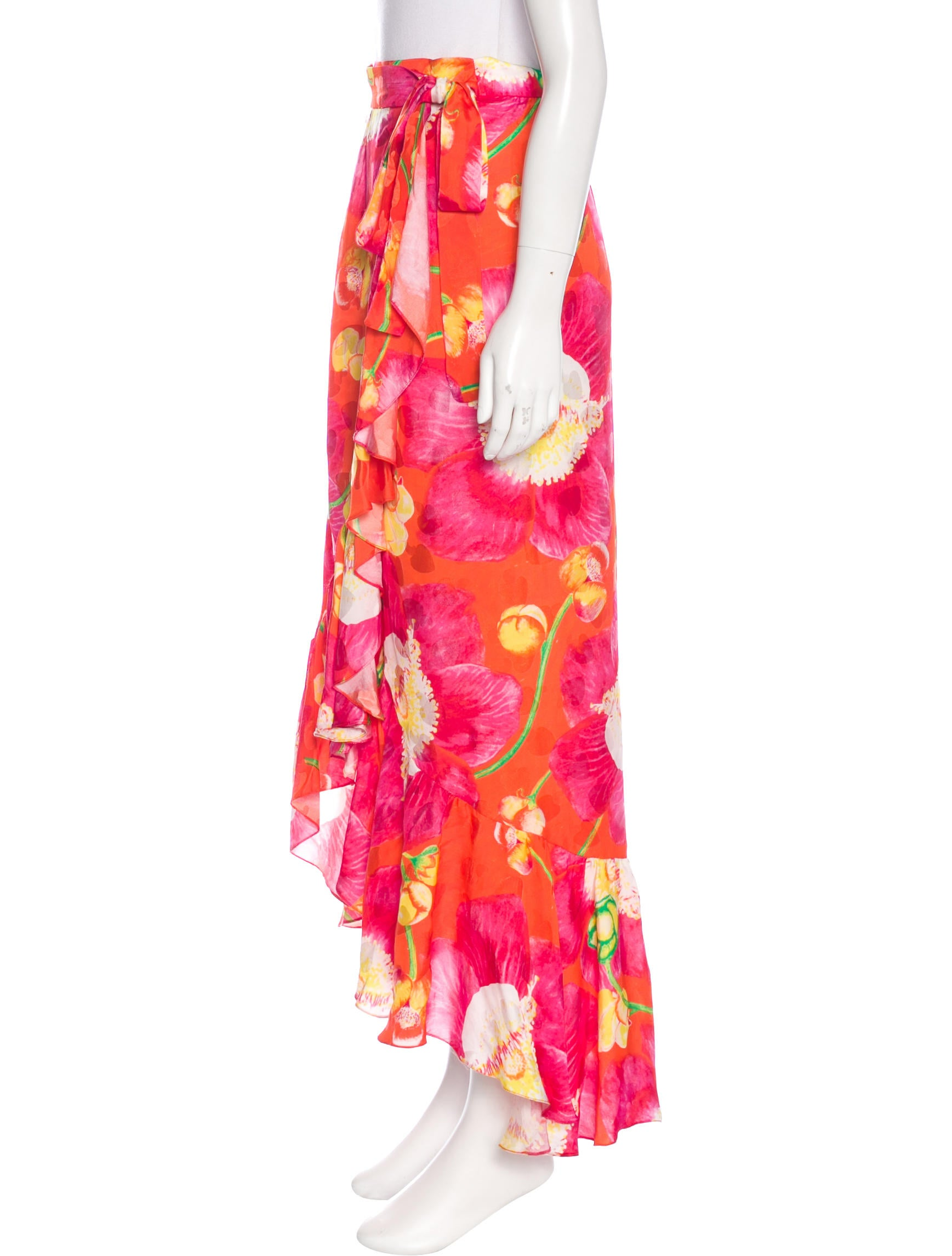 isolda floral print maxi skirt clothing wsd20073 the