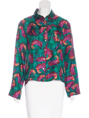 Isolda Abstract Print Silk Top None