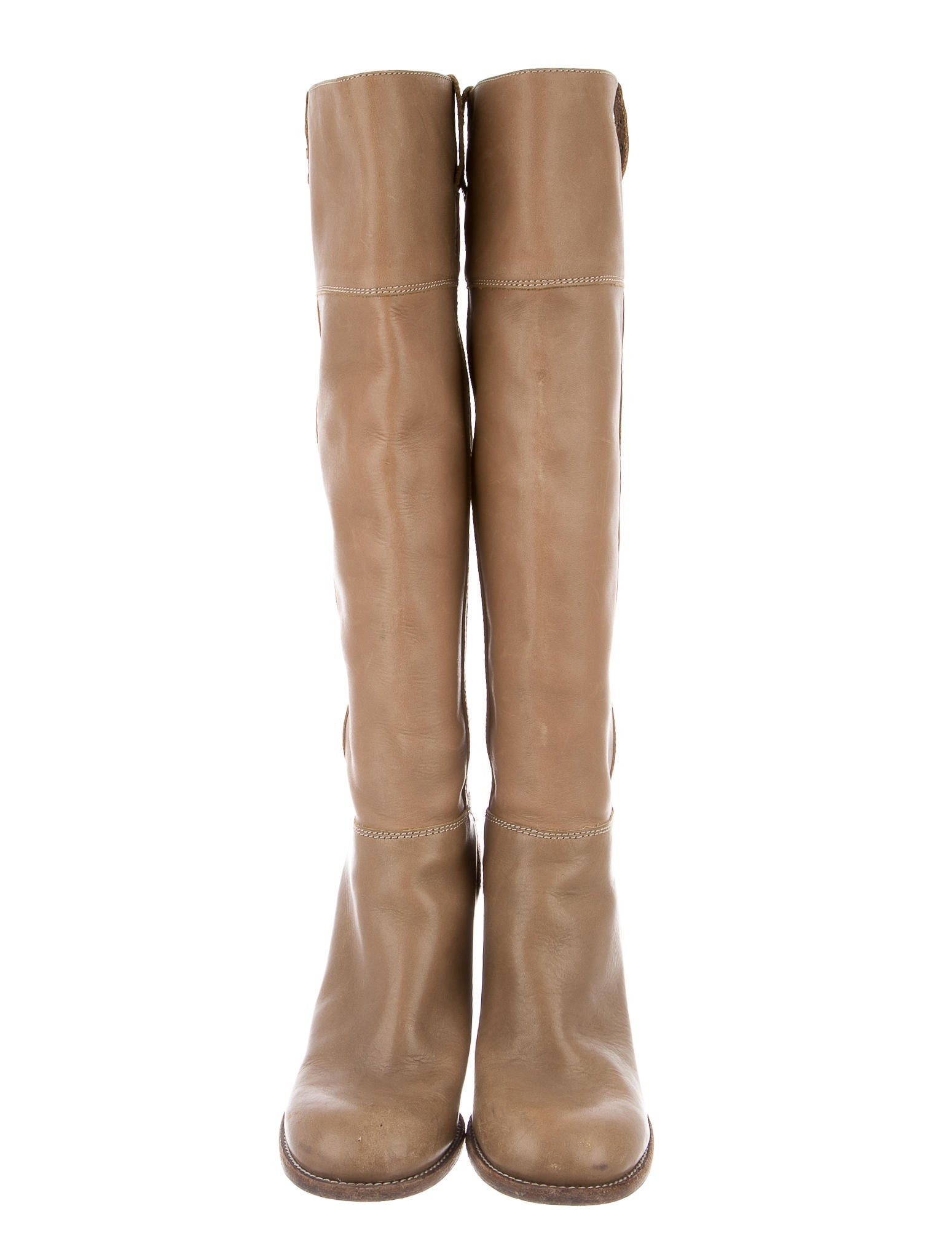 see by chlo 233 taupe leather boots shoes wse23892 the